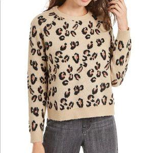 Planet Gold Animal-Print Sweater